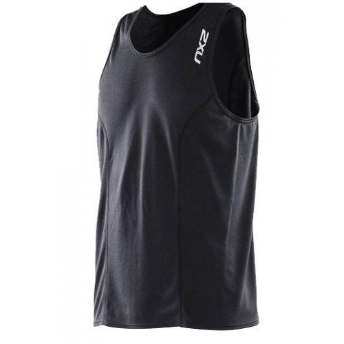 Laufshirt Hig FIL Cool Triathlon RUN SINGLET von  2XU für Herren, Sport-Top, Funktions-Oberteil, besondere Klima-Aktivität, schwarz