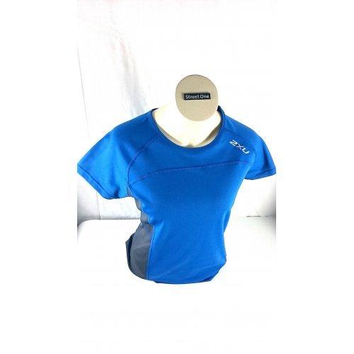 Top Modisches 2XU DamenVelocity T-Shirt WR2105a in Blau, Grau/ Größe: S