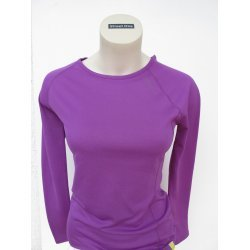 Laufshirt HEAT Long Sleeve Run Tee von 2XU für Damen Long Sleeve Top mit Keramikgarn, wärmt, desodoriert, desinfiziert, Farbe lila