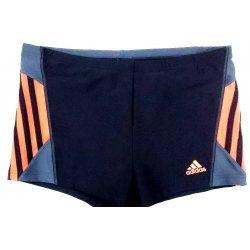 Badehose Herren von Adidas, Badeslip sportlich schick für Training und Wettkampf, perfekte Passform, chlorresistent, farbecht, schwarz-orange, S22855