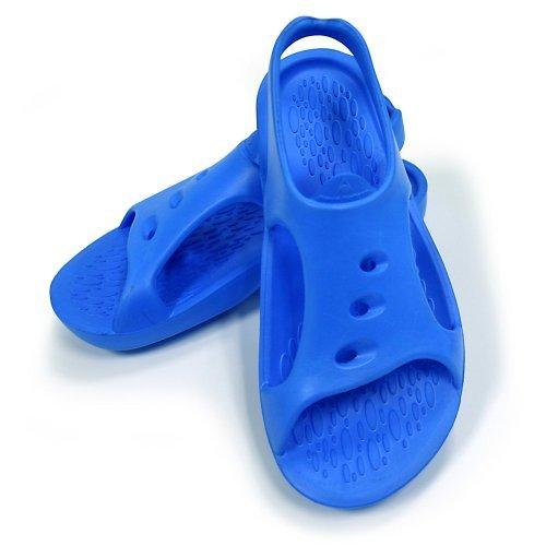 Aquasphere Bade Sandalen Trek Badepantoletten ergonomisches Fußbett chlorresistent, tolle Passform Badelatschen, Badeslipper Badeschuhe für Damen Herren und Kinder, blau