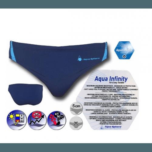 Aqua Sphere Herren Badehose, Badeslip sportlich schick Blue Laguna für Training und Wettkampf, perfekte Passform, chlorresistent, farbecht, blau, 61651M