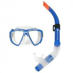 Tauch-Set Aquatics für Erwachsene, Schnorchel-Set, Taucherbrille mit Schnorchel, blau