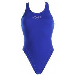 Badeanzug Makinax Jolly Blue Metallic Silver von Arena, chlor- und salzwasserresistent, lichtbeständig, schnell trocknend, Rumpf stabilisierend