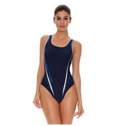 Arena Damen Badeanzug Morryson High denim fast blue - perfekt für Training und Wettkampf, chlor- und salzwasserresistent, lichtbeständig, schnell trocknend