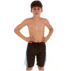 Badehose Gumri Bermuda von Arena Jungen Watershort Badeshorts Schwimmshorts und Kordeldurchzug, Innenslip, schwarz-orange , 4412028