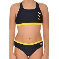 Bikini ASTRUM Sport-Bikini für Mädchen von Arena - Schwimmbikini perfekt für Training und Wettkampf, chlor- und salzwasserresistent, lichtbeständig, schnell trocknend,  navy-yellow