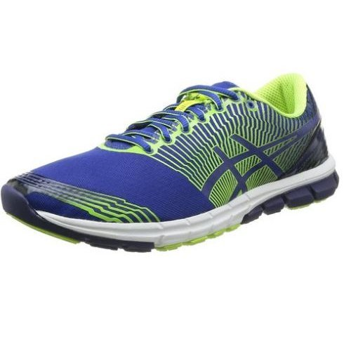 ASICS Gel-Super J33, Herren Outdoor Fitnessschuhe Flash Yellow (0442-Flash Yellow/Blue/Black) - für Überpronierer entwickelt