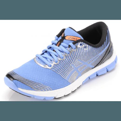 ASICS Asics Gel-Lyte 33 3, Damen Outdoor Fitnessschuhe Capri Blue (2890 CAPRI BLUE/BLK/ORANGE) - der leichteste und flexibelste Schuh der 33-Kollektion - bietet Bewegungsfreiheit und fördert einen natürlicheren Abdruck