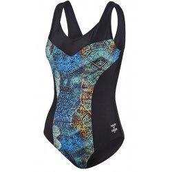 Damen Schwimmanzug Badeanzug Power of Nature, D-Cup, petrol-schwarz, 67012