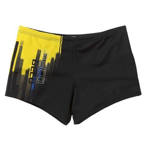 Beco Kinder Badehose-Aqua für Jungen, schwarz/gelb