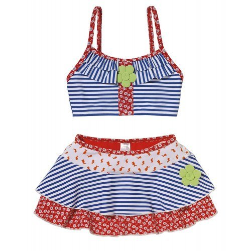 Beco Kinder Mädchen Tankini Summer of Love, rot/blau/weiß