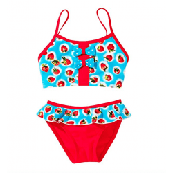 Beco Kinder Ballerina Bikini Tankini für Mädchen mit Erdbeeren Design