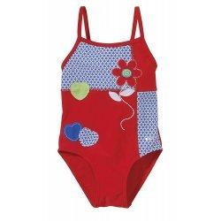 BECO Kinder Badeanzug Mädchen Flower, rot/blau