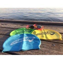 Carboo4U Unisex Silikon Badekappe in Einheitsgröße für Damen und Herren | wasserdichte Schwimmhaube für Alltag, Training und Wettkampf