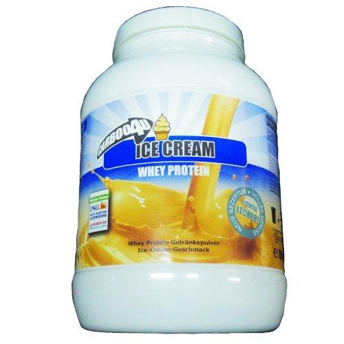 Carboo4U Whey Protein Ice Cream Dose, garantiert dopingfrei, Diätetisches Lebensmittel für intensiveMuskelanstrengungen, Molke von höchster Qualität, 750 g Dose