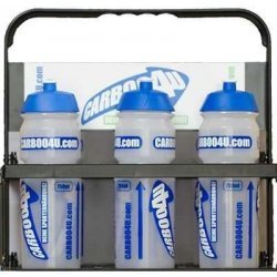 Carboo4U Flaschenträger - Trinkflaschenhalter für den Team Sport - Fußball / Handball / Basketball / Floorball - Mannschaften , mit 6 Carboo4U Sportflaschen (weiss, je 0,75 Liter)