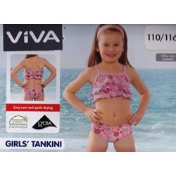 Tankini Girls Flower von Viva für Mädchen, Kinder Schwimmanzug, Rosa