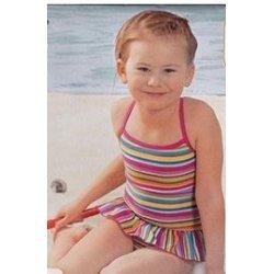 Badeanzug Girls Ruffles Swimsuit von Viva für Mädchen, Kinder Schwimmanzug, bunt
