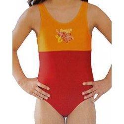 Badeanzug Girls Swimsuit von Viva für Mädchen, Kinder Schwimmanzug, Rot-Orange