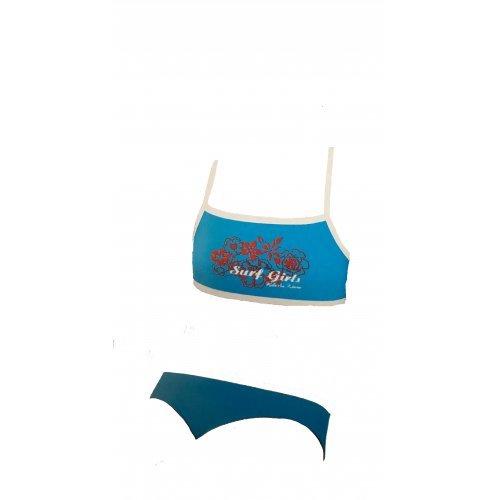 Tankini Surf Girls von Viva für Mädchen, Kinder Schwimmanzug, Blau