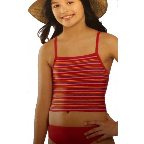 Tankini Girls Stripes von Viva für Mädchen, Kinder Schwimmanzug, Rot