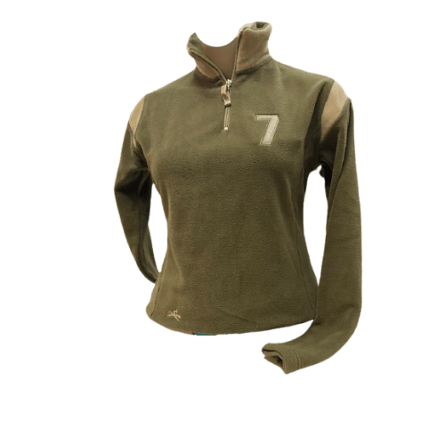 Fleecepulli Sweater Polar Micro Fleece Troyer, khaki-beige