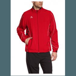 erima Herren Jacke Gold Medal mit abnehmbaren Ärmeln, rot/schwarz/weiß, 105223 - ideal für Läufer, Running