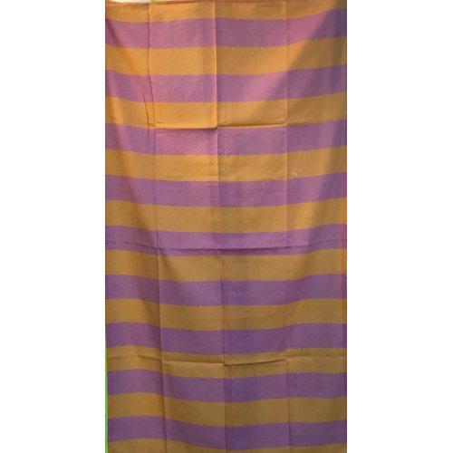 Hamamtuch Saunatuch von Fitter ins Leben® reine Baumwolle geschmeidige Twillbindung saugfähig schnell trocknend farblich sortiert, Blockstreifen