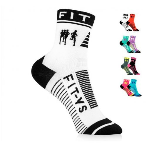 FIT-YS Laufsocken, Onesize, 1/2 Länge, von Läufern für Läufer entwickelt, atmungsaktiv Feuchtigkeit absorbierend