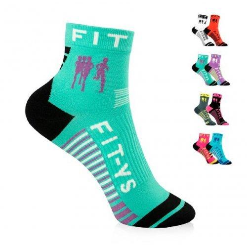 FIT-YS Laufsocken, Onesize, Quarter 1/4 Länge, von Läufern für Läufer entwickelt, atmungsaktiv Feuchtigkeit absorbierend