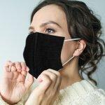 Behelfsmaske von FITTER INS LEBEN, anatomisch geformte wiederverwendbare Abdeckung von Mund und Nase, Packungsinhalt 2 Stück