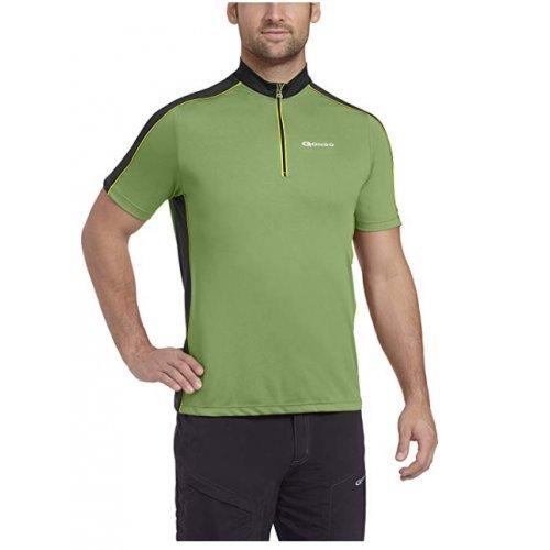 Fahrradtrikot Moro von Gonso Stehkragen Funktionsgewebe, superleicht, atmungsaktiv, schnelltrocknend, antibakteriell, 3 Taschen,, Fluorit Green