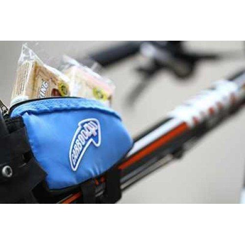 Carboo4U Fahrradtasche/Kleine Rahmentasche in blau für jeden Fahrrad-Typ, Wasserabweisende Oberrohrtasche für Mountainbike, MTB, Rennrad und Triathlonrad