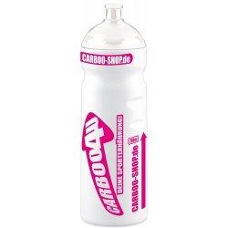 Carboo4U Sportflasche Trinkflasche, Ladies Edition  - weiss-magenta - 750ml - Passt in alle gängigen Flaschenhalterungen - Made in Germany