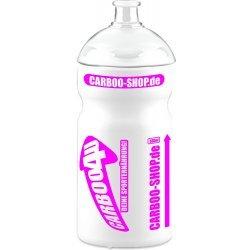Carboo4U Sportflasche Radfahren Trinkflasche. Ladies Edition  - weiss-magenta - 500ml - Passt in alle gängigen Flaschenhalterungen - Made in Germany