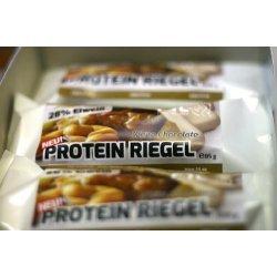 FITTER INS LEBEN Protein Riegel White Chocolate, geröstete Nüsse, weiches Karamell, leckere weisse Schokolade, 28 Prozent Protein, reich an essentiellen Fetten, je Riegel 85 g