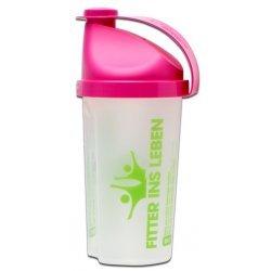 Fitter ins Leben Protein-Shaker, Mixen leicht gemacht - Shake-Herstellung mit Milch o. Wasser, dichter Verschluss, leicht auswaschbar, Messskala, Füllmenge 500ml