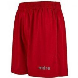 Sportshorts Striped Shorts von mitre, kurze Hose, Fussball, Laufen, Teamsport, Trainingshose, mit Innenhose, rot