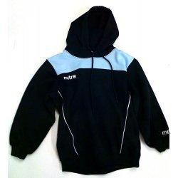 Mitre Kapuzen Sweatshirt, Fussballshirt, Hoodie, Hoody, Baumwolle, elastische Bündchen, Kapuze mit Kordelzug, schwarz-hellblau