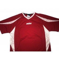Sportshirt Funktionsshirt Laufshirt von mitre, bequemes T-Shirt für alle Sportarten, atmungsaktiv, schnell trocknend, rot-weiss