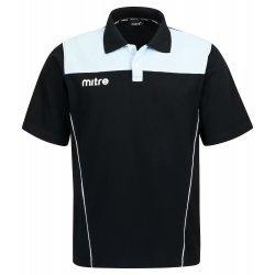 Polo-Hemd Legency von Mitre Poloshirt Unisex Kontrastfarben Baumwollmischgewebe atmungsaktiv schwarz-grau