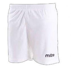 Sportshorts Zial von mitre, kurze Hose, Fussball, Laufen, Teamsport, Trainingshose, Lifestyle, weiss