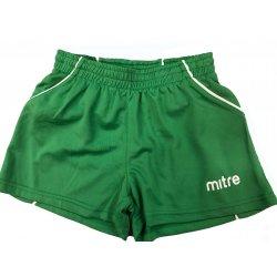 Sportshorts von mitre, kurze Hose, Sirial-Shorts, Fussball, Laufen, Teamsport, Trainingshose, Lifestyle, grün