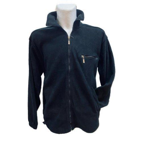 Fleece Jacke Herren - super kuschelig in tollen, frischen Farben, Schwarz