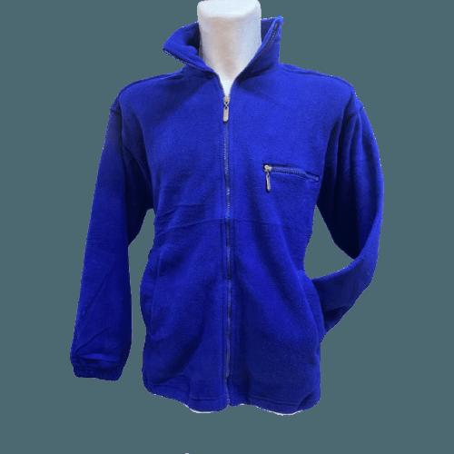 Fleece Jacke Herren - super kuschelig in tollen, frischen Farben, Königsblau