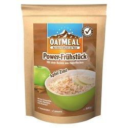 OatMeal Power-Frühstück Apfel-Zimt Neu - Haferflocken mit einer Extra-Portion Protein - rein vegan, vegetarisch, laktosefrei - 500g Beutel