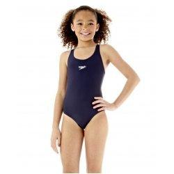 Badeanzug Splashback Solid von Speedo, schmale Träger, perfekte Passform, chlorresistent, farbecht, schwarz