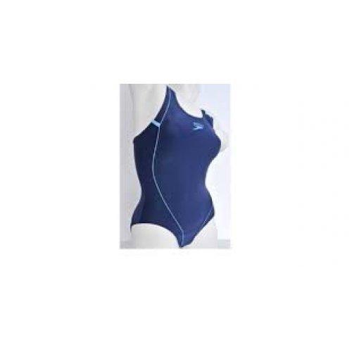 Badeanzug Equinox von Speedo, lichtecht, chlorresistent, figurformend, strapazierfähig, dunkelblau-hellblau