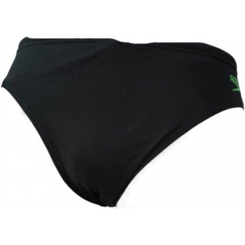 Badehose Enigmati Aquashort Slip von Speedo, seitenhöhe 6,5 cm - schwarz-weiss-grün, 8053626743